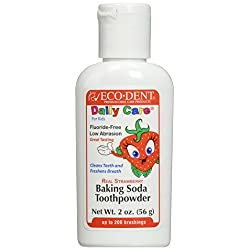 Eco-Dent Toothpowder for Kids, Strawberry 2 oz