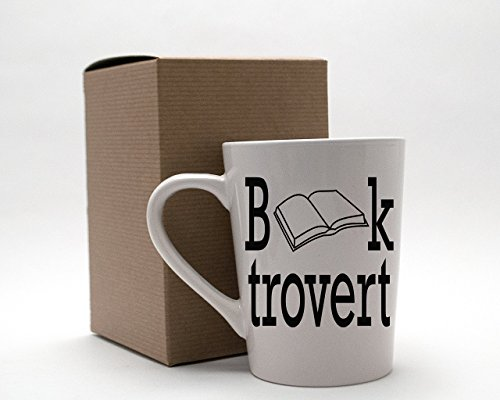 Booktrovert Book Lover Reading 14oz White Mug for Introverts Extroverts and Ambiverts (2)