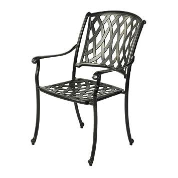 bramblecrest etna stacking aluminium armchair in black metal