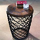 Cheap Global Views Small Arabesque Table Copper Top
