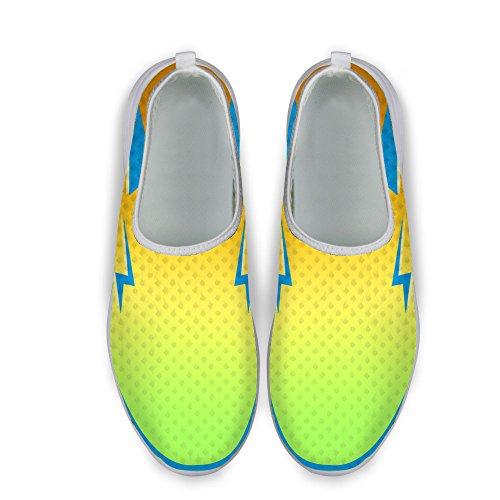 För U Designar Coola Womens Ventilerande Mesh Athletic Sneaker Löparskor Gul