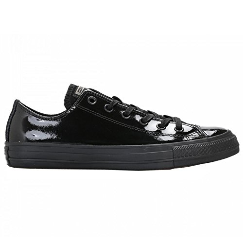 Converse Womens Chuck Taylor Ox Black Patent Leather Trainers 8 US