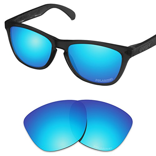 Tintart Performance Replacement Lenses for Oakley Frogskins Sunglass Polarized Etched-Sky ()