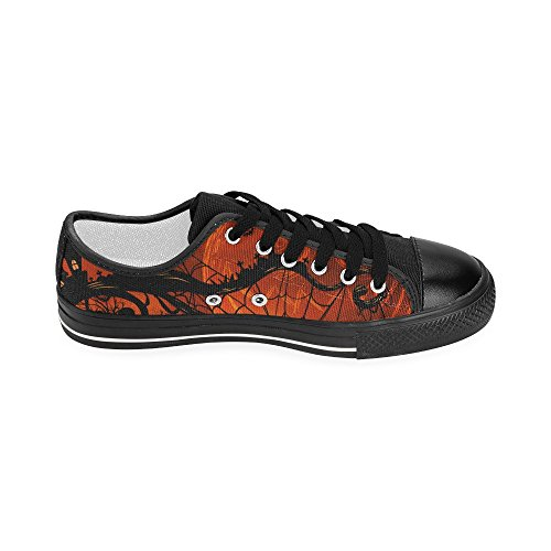 D-story Custom Happy Halloween Pumpkin Womens Classic Canvas Shoes Moda Sneaker Multicoloured3