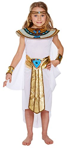 Egyptian Girl Costume, Cleopatra Fancy Dress, Medium Age 7-9 -