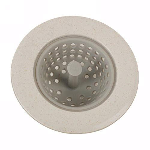 Ameglia Bath Kitchen Water Sink Drainer Strainer Disposal Stopper Silicone Drain Plug (Colour - White) ()