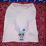 Born to Ride Eagle Tank for Dogs (Pink - X-Small)