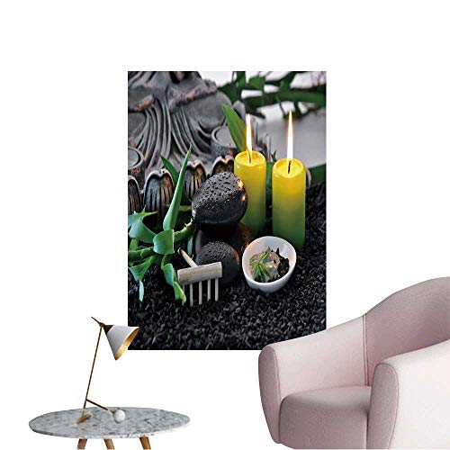Modern Decor Massage Stones with Bamboo Green Clay with Scented Candles Ideal Kids Decor or Adults,20