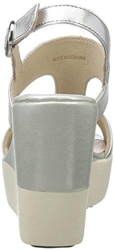 Silver para Mujer Stonefly Plateado Saint 13 Cuña Tropez con 058 Sandalias Y7Szgq