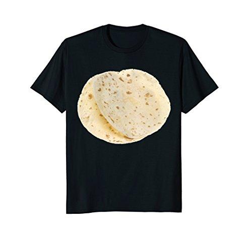 Mens Flour Tortillas Shirt, Food Foodie Halloween Costume Gift Medium Black ()