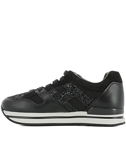 Hogan Damen HXW2220U352IVTB999 Schwarz Stoff Sneakers
