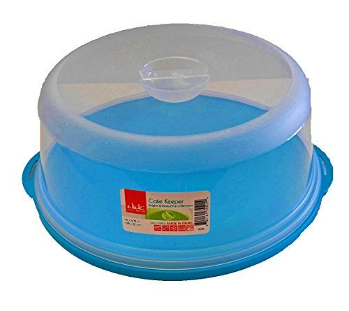Click Home Design Large 11'' Blue Cake Keeper BPA Free Bright Colors (1, Blue) by Click Home Design