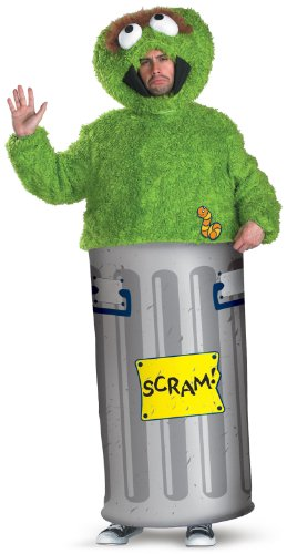 Street Sesame Grouch Costume (Oscar the Grouch Adult Costume -)