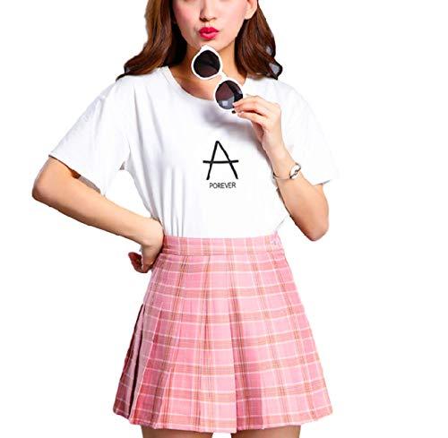 Moon Market Plaid High Waist Mini Skirt Bottoms with Shorts Japanese School Girl Uniform Costume Scooters for Girls Women (XXL, Navy) Cosplay Costume Anime Harajuku Kawaii Nation Tokyo Korean Style for $<!--$15.99-->