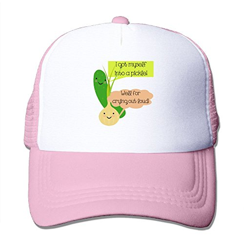 ZhiqianDF Momen's Pickle And Onion Humor Cool Basketball Pink Mesh Caps Adjustable - Indian Goggles Brands