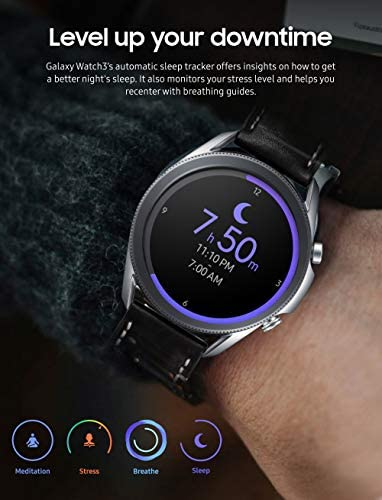 Samsung Galaxy Watch 3 (45mm, GPS, Bluetooth) Smart Watch with Advanced Health Monitoring, Fitness Tracking, and Long lasting Battery - Mystic Silver (US Version) 6