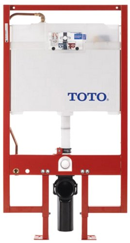 Toto WT151800M#WH Duofit in Wall Tank System, Pex C Pipe with Push Plate by TOTO
