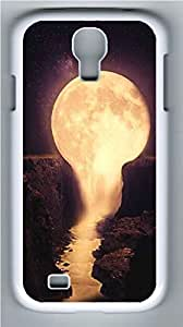 Galaxy S4 Case, Personalized Protective Hard PC White Edge Pour The Moon Case Cover for Samsung Galaxy S4