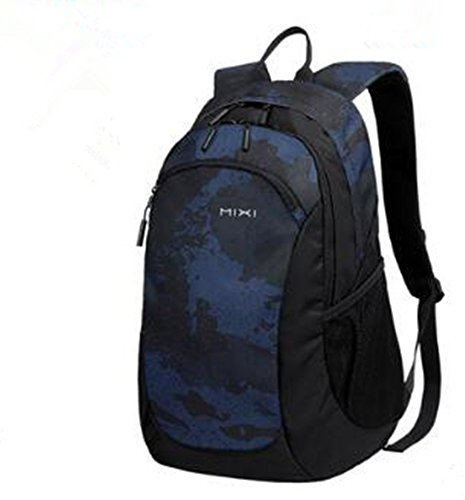 Graffiti bluee Larger version Limit Casual movement backpack backpack Schoolbag middle School student fashion trend High capacity tourism Travel bags(Larger version)