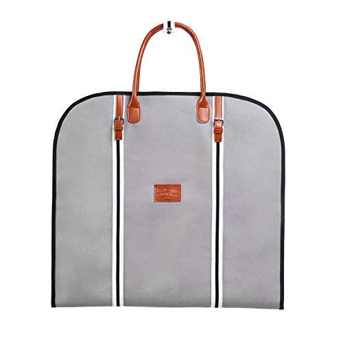 Saint Maniero Garment Bag I Premium Suit Carrier I Travel Suit Bag I Garment Carrier I Dress Bag I Suit Cover Bag I Suit Cover I Dress Carrier (Grey)