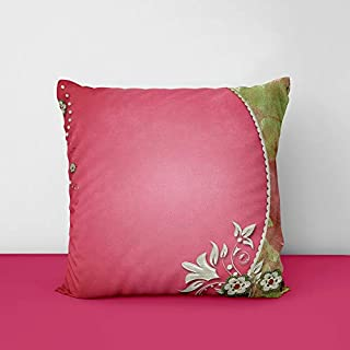Pink Designs Printed Square Cushion Cover