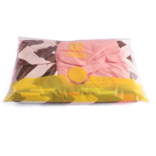 ISASSY - Vestido - Noche - Sin mangas - para mujer Pink&Green