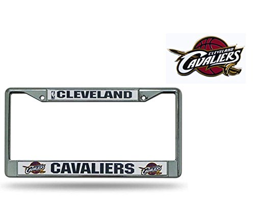Official National Basketball Association Fan Shop Licensed NBA Shop Authentic Chrome License Plate Frame and Emblem (Cleveland Cavaliers)