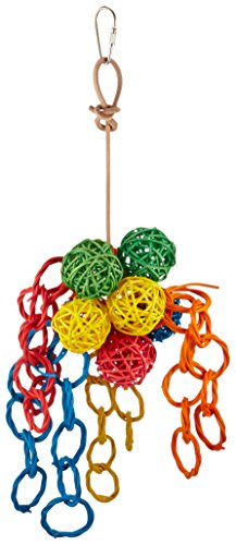 (Paradise 5 by 12-Inch Vibrant Clusters Pet Toy, Small)