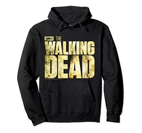Unisex The Walking Dead Logo Hooded Sweatshirt Small Black