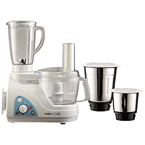 Usha Food Processor (2663) 600-Watt with 3 Jars (White)