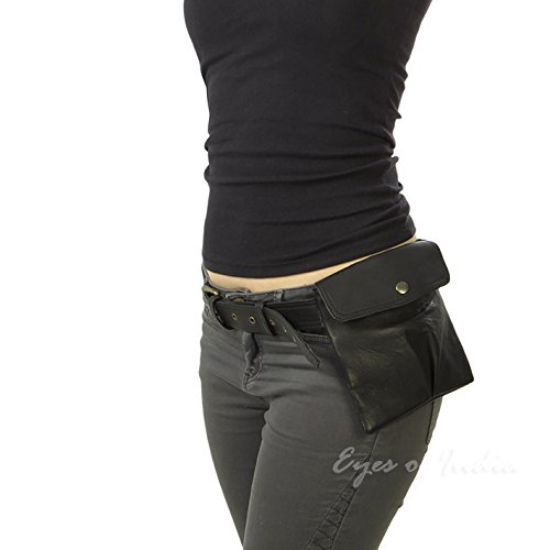 Bag Bum Hip Fanny Pack Pouch Waist Belt Pocket India Purse Black Leather Of Eyes Clutch f8pawa