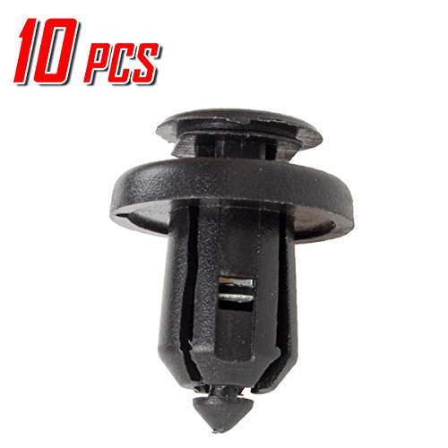 PartsSquare 10x Front Bumper Fastener Clamps Auto Body Push Type Retainer Clips W/Metal Insert Clips Replacement for Honda/Acura