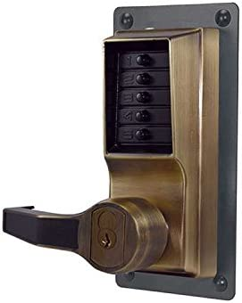 Simplex LR1021R-03-41 Right Hand Mechanical Push Button Lock With Sargent IC Prep Bright Brass Finish