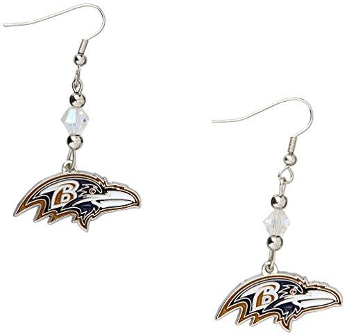 (Siskiyou NFL Baltimore Ravens Crystal Dangle Earrings)