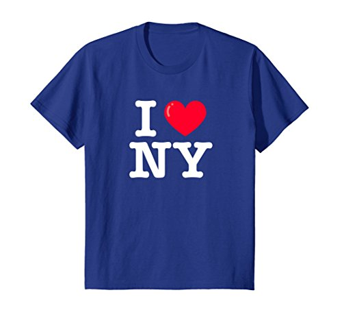 Price comparison product image Kids I Heart NY Classic Typewriter Font T-Shirt 12 Royal Blue