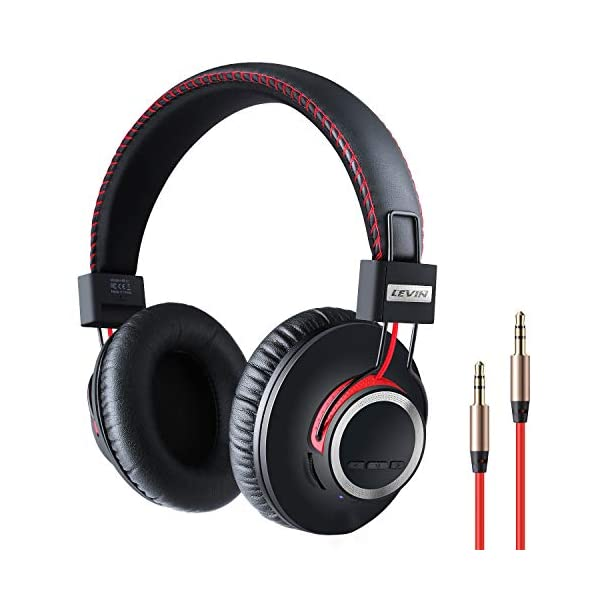 Over Ear Bluetooth Headphones Wireless Lightweight Headset – High End CSR8645 Chip Lossless Hi-Fi Stereo, Handmade Style Extra Comfortable and Stylish, Deep Bass Headset with Mic
