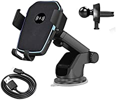 Wireless Car Charger Mount, Wireless Charger Gravity Car Mount Phone Holder 10W Qi Fast Charger for Samsung Galaxy...