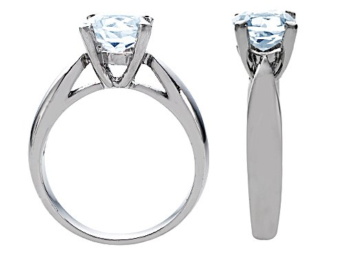 Star K Sterling Silver 7mm Round Promise Solitaire Engagement Ring