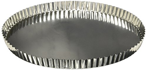 Matfer Bourgeat 341779 Fluted Tart Mold with Removable Bottom