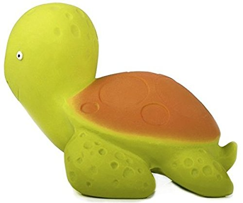CaaOcho Ocean - Mele the Sea Turtle Natural Rubber Bath Toy - Hermetically Sealed, BPA, PVC, phthalates Free