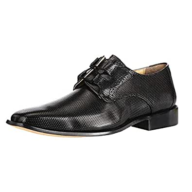 Liberty Derby Dress Shoes Men's Formal Non Leather Classic Tread Design Lace Up Shoes Black Size: 8.5