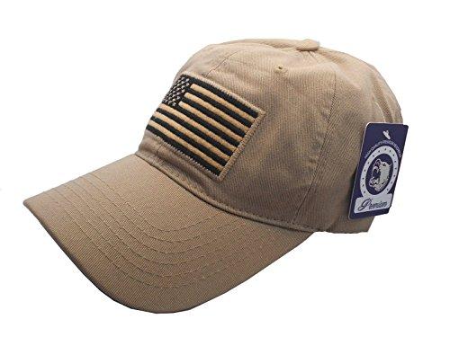 USA American Flag Baseball Cap Military Army Operator Adjustable Hat (Beige)