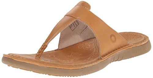 Bogs Women's Amma 3 Point Flip Leather Sandal, Toffee, 8 M - Brown Amma