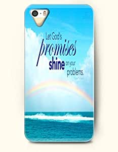 OOFIT iPhone 5/5s Case Let God'S Promises Shine On Your Problems Rainbow