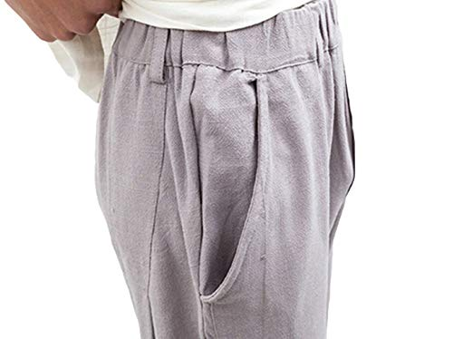 Giovane Harem Da Casual Vintage Sportivi Estivi Unita Grau Yasminey Uomo Spiaggia Tinta Fashion Larghi Pantaloni ywZ1gqYBBp