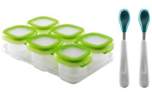 oxo-tot-baby-blocks-freezer-storage-containers-clear-with-feeding-spoon-set-aqua