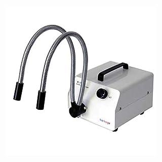 Amscope HL150-AY 150W Fiber Optic Dual Gooseneck Microscope Light Illuminator