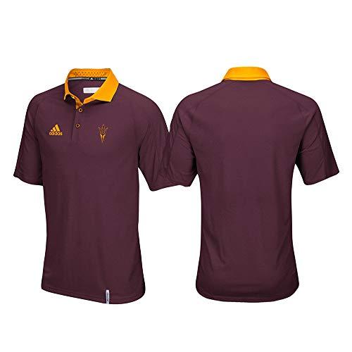 adidas Arizona State Sun Devils NCAA Men's Sideline Climachill Performance Maroon Polo Shirt ()