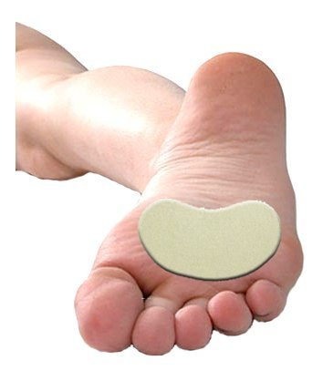 Moleskin Ball of Foot Pads, Kidney Shaped, 100 Metatarsal Pads per Order (3 1/2'' Wide)