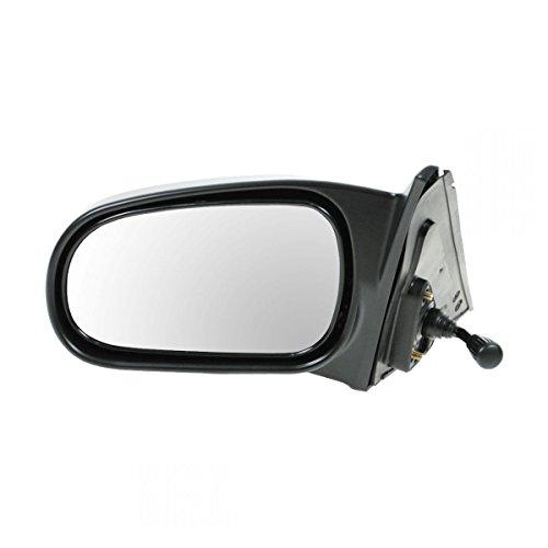 Manual Remote Mirror LH Left Driver Side for 96-00 Honda Civic 4 Door Sedan ()